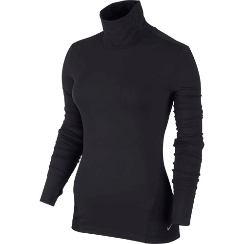 Nike Golf Women's Mock Shirt - Black/Metallic Silver