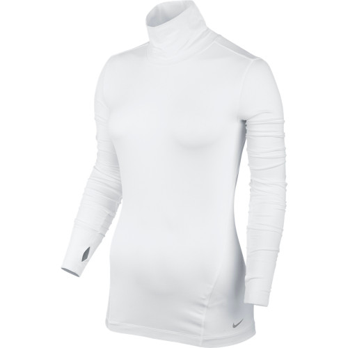 Nike Golf Women's Mock Shirt - White/Metallic Silver