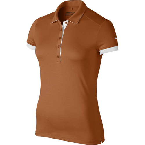 Nike Golf Women's Victory Colorblock Polo - Desert Orange/White