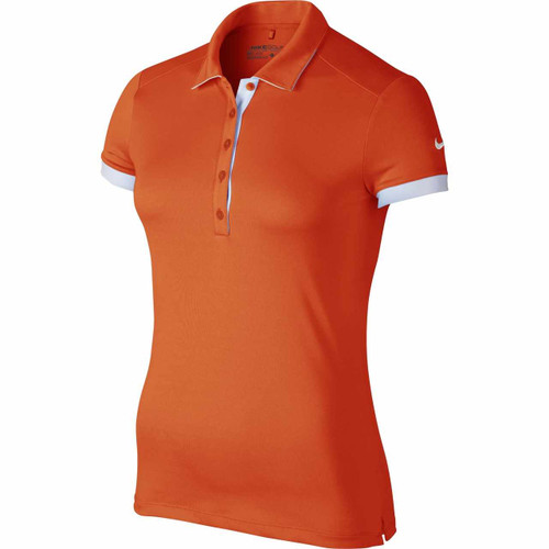 Nike Golf Women's Victory Colorblock Polo - Team Orange/White