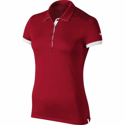 Nike Golf Women's Victory Colorblock Polo - University Red/White