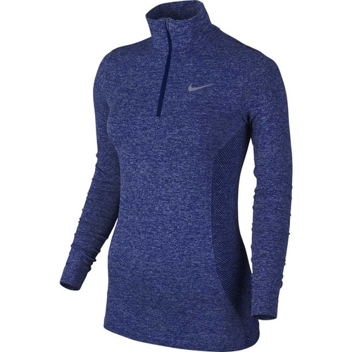 Nike Golf Women's Dri-FIT Knit 1/2 Zip Top - Deep Royal