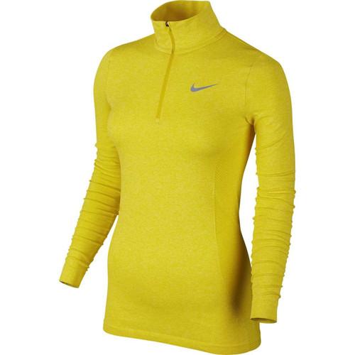 Nike Golf Women's Dri-FIT Knit 1/2 Zip Top - Optic Yellow