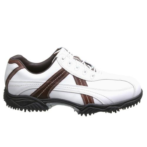 FootJoy Contour Series Contrast Men's Waterproof Golf Shoes - White/Brown [Manufacturer Closeout]
