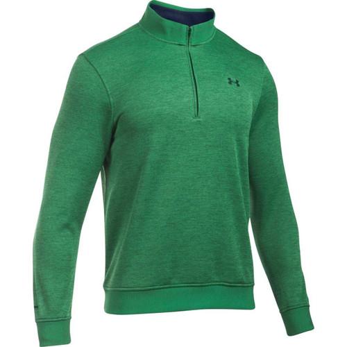 Under Armour 2016 Storm Sweaterfleece Golf 1/4 Zip - Pine Needle Green