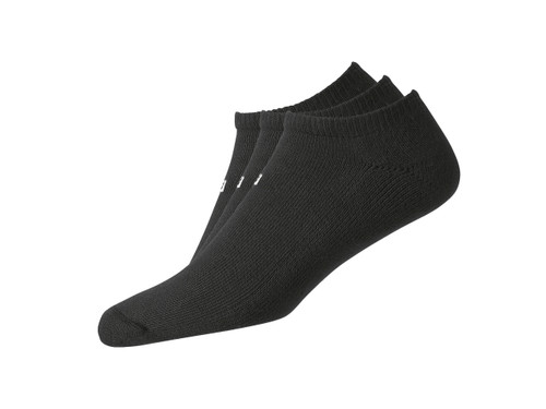 FootJoy ComfortSof Men's Low Cut Socks (3 Pair) Shoe Size 7-12 - Black