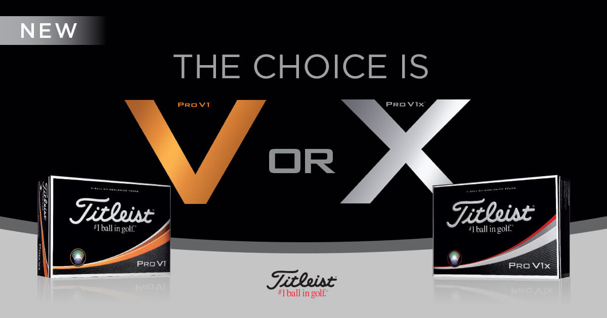 Titleist Pro V1 and Pro V1x 2017 edition new generation golf balls