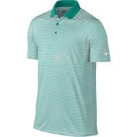 Nike Golf Victory Mini Stripe Polo - Rio Teal/White