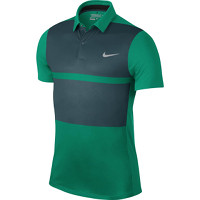 Nike Golf Momentum Fly Framing Block Polo - Teal Charge/Midnight Turquoise
