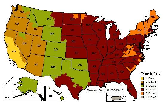 UPS Ground Shipping Estimates