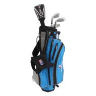 US Kids ULTRALIGHT Club Carry Bag Set - Left Handed - Blue