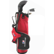 US Kids ULTRALIGHT Club Carry Bag Set - Left Handed - Red