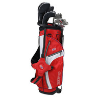 US Kids Golf Tour Series V5 10 Club Stand Set - Red/White/Navy