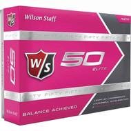 Wilson Staff Fifty Elite Golf Balls - 1 Dozen - Pink