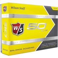 Wilson Staff Fifty Elite Golf Balls - 1 Dozen - Yellow