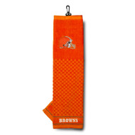 Team Golf NFL Embroidered Tri-Fold Towel - Cleveland Browns