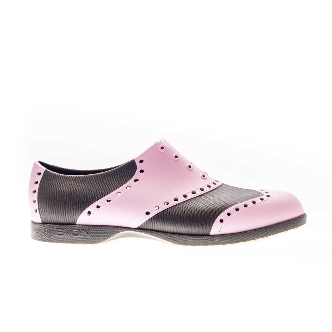 Biion classic unisex golf shoes black pink for Classic house golf shoes