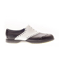 Biion Saddle Unisex Golf Shoes - Black/White