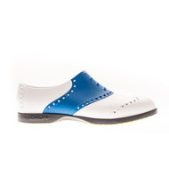 Biion Saddle Unisex Golf Shoes - White/Royal Blue