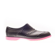Biion Oxford Bright Unisex Golf Shoes - Black/Magenta