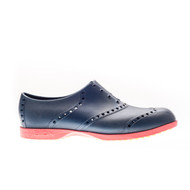 Biion Oxford Bright Unisex Golf Shoes - Navy/Red
