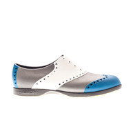 Biion Wingtip Unisex Golf Shoes - Blue/White/Silver