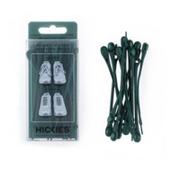 Hickies No-Tie Elastic Shoelaces - Forest Green