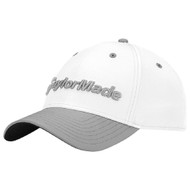 TaylorMade Performance Seeker Adjustable Golf Hat - White/Gray