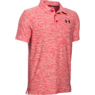 Under Armour Boys' Playoff Polo - Red Heather/Black