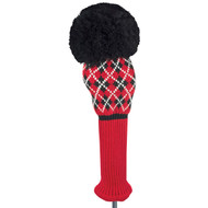 Driver Headcover - Argyle - Red/Black/White