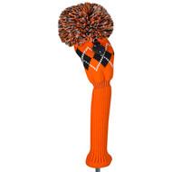 Fairway Wood Headcover - Argyle - Orange/Black/White