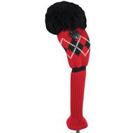 Fairway Wood Headcover - Argyle - Red/Black/White