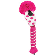Hybrid Headcover - Small Dot - Pink/White