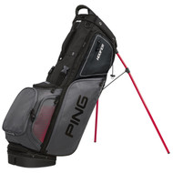 PING Hoofer Golf Stand Bag - Black/Charcoal/Red