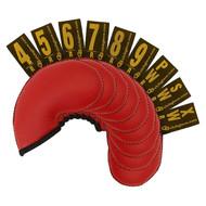 Club Glove Gloveskin 9-Piece Iron Covers (#4-9, PW, SW, XW) Red