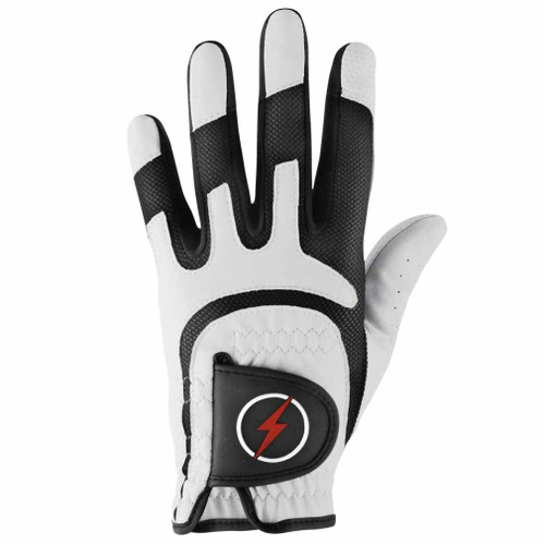 PowerBilt Men's One-Fit Golf Glove - White