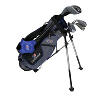 "US Kids Ultralight 4-Club Carry Bag Set - RH - 45"" Blue"