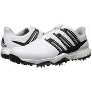 adidas Powerband BOA Boost Men's Golf Shoes - White/Core Black/Silver Metallic