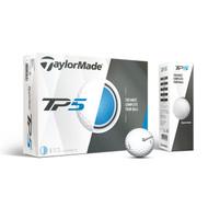 TaylorMade TP5 Golf Balls - White - 1 Dozen