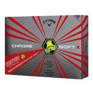 Callaway Chrome Soft X Truvis Golf Balls - 1 Dozen - Yellow/Black