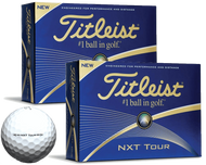 2 Dozen Titleist NXT Tour Golf Balls in White