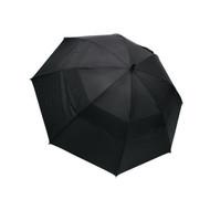 "Wind Cheater 62"" Vented Double-Canopy Golf Umbrella - Black"