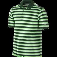 Nike Golf Tech Vent Stripe Polo DOVE GREY/VOLT/ANTHRACITE XL - Gorge Green/Green Strike