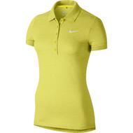 Nike Golf Women's Precision Pique Polo - Vibrant Yellow Heather/White