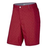 Nike Golf Modern Fit Printed Shorts (Midnight Navy/Light Crimson/White/Wolf Grey) 38 - University Red/Midnight Navy/White/Wolf Grey