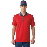adidas Golf ClimaCool USA Performance Polo - Scarlet/Mineral/Blue