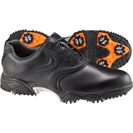 FootJoy Contour Series Traditional Saddle Golf Shoes in Black
