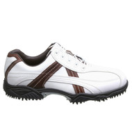 FootJoy Contour Series Contrast Men's Waterproof Golf Shoes - White/Brown