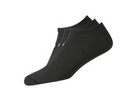 FootJoy ComfortSof Men's Low Cut Socks (3 Pair) Shoe Size 7-12 - Black