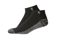 FootJoy ProDry Men's Sport Socks (2 Pair) Shoe Size 7-12 - Black